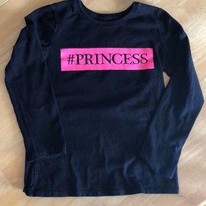 Children's Place girls #princess shirt M 7/8